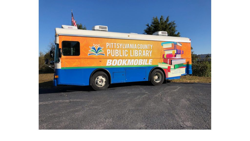 Don't you love the Bookmobile's new look? Thank you to the Friends of the Library and Danville Trophy and Sign for the splashy update.