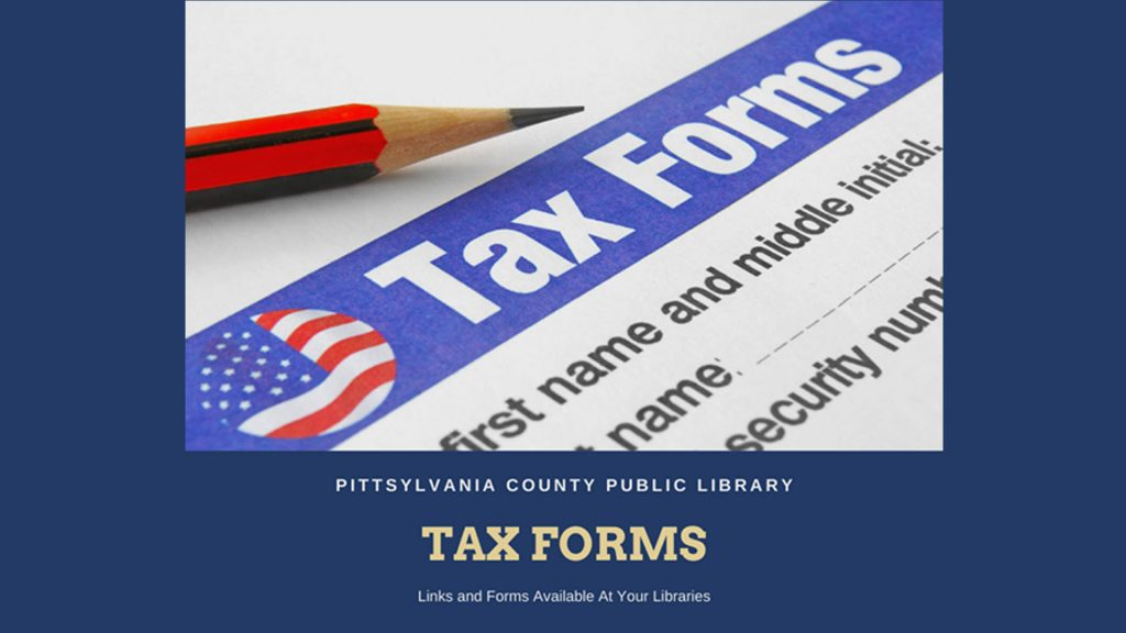 Tax forms from the IRS are beginning to arrive at the library. Click here to find easy links for federal and state forms and instructions as well as other useful links for federal, state, and local tax information and taxpayer assistance.